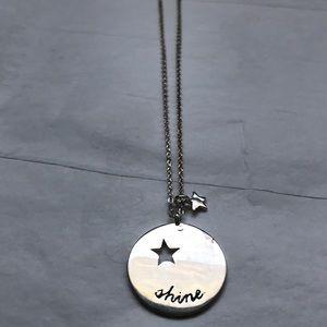 BCBC MazAzria sterling silver Shine necklace